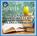 ASSEGNAZIONE DI 5 BORSE DI STUDIO IN MEMORIA DI ALESSANDRO APA