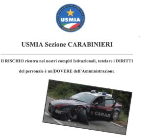 COMUNICATO STAMPA – INCIDENTI OCCORSI AL PERSONALE DELL'ARMA DEI CARABINIERI
