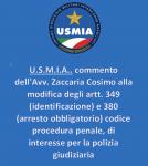 U.S.M.I.A.. commento dell'Avv. Zaccaria Cosimo alla modifica degli artt. 349 (identificazione) e 380 (arresto obbligatorio) codice procedura penale, di interesse per la polizia giudiziaria